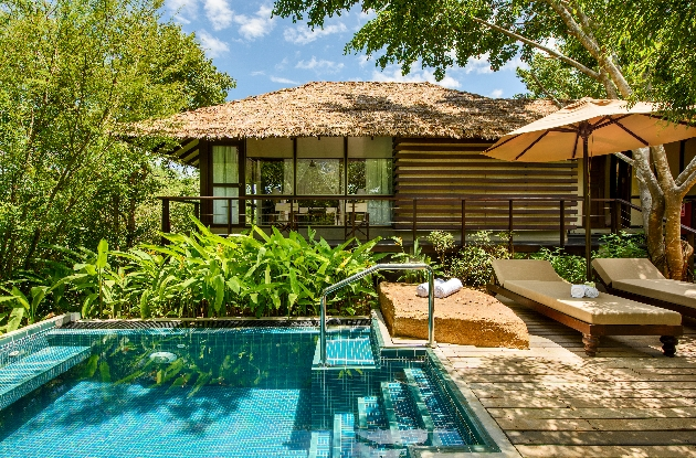 private villa among trees with pool
